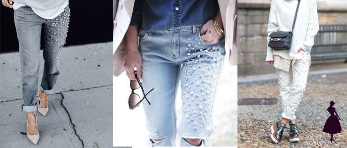 Cómo usar perlas pantalones