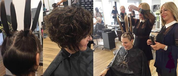 Vertical haircut Salon