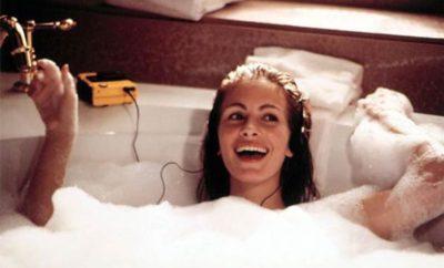 Bañarse con agua caliente
