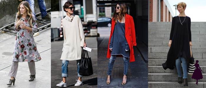 Vestidos con pantalón informal