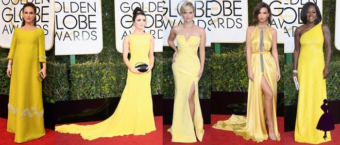 Vestidos de los Golden Globe 2017 Amarillo