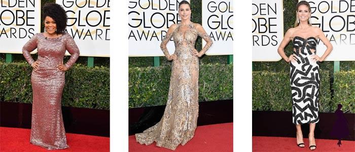 Vestidos de los Golden Globe 2017 Un hombro Brillos