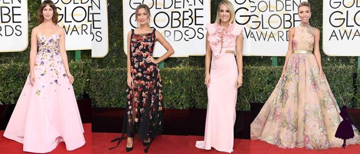 Vestidos de los Golden Globe 2017 Flores