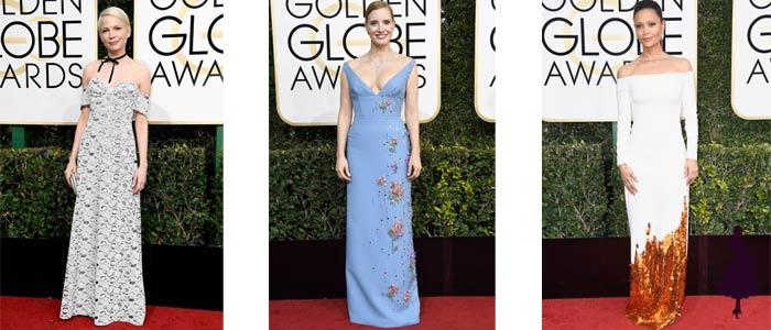 Vestidos de los Golden Globe 2017 Hombros