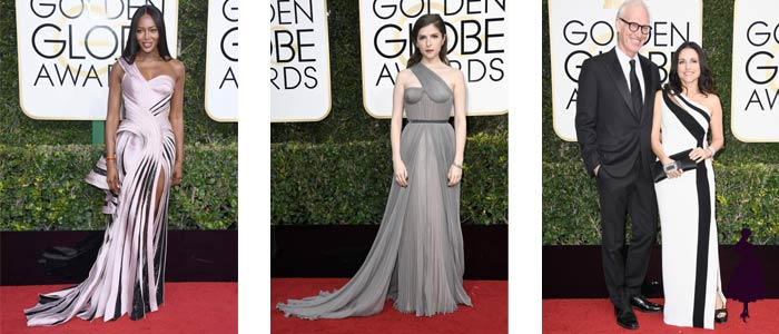 Vestidos de los Golden Globe 2017 Un hombro