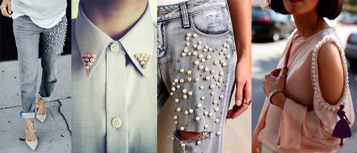 Ideas para decorar la ropa perlas