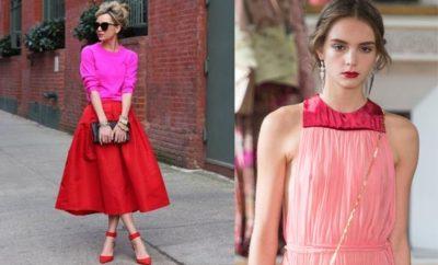 Rojo y rosado