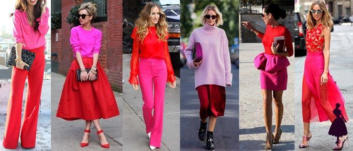Rojo y rosado Street Style
