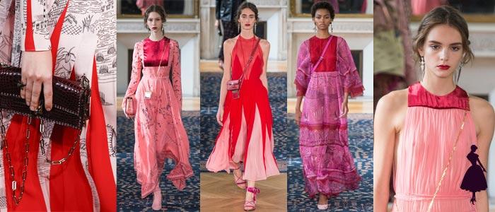 Rojo y rosado Valentino