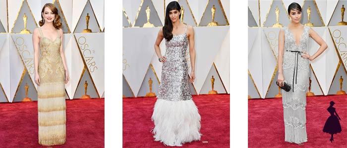 Vestidos de los Oscar 2017 Flecos y plumas