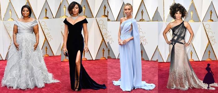 Vestidos de los Oscar 2017 Hombros