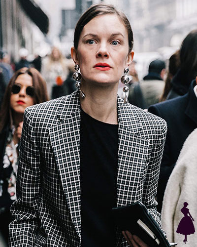 Street Style de Milan pendientes xl