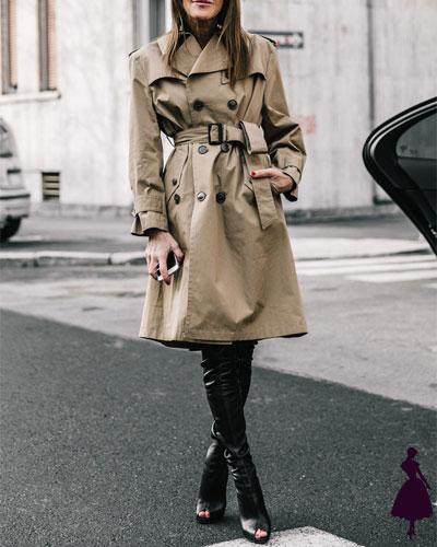 Street Style de Milan trench coat