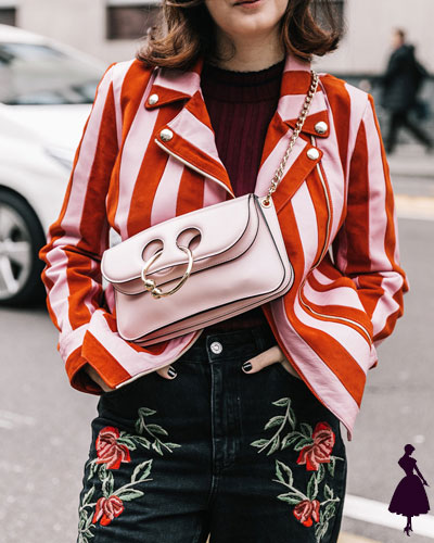 Street Style de Milan rojo y rosado