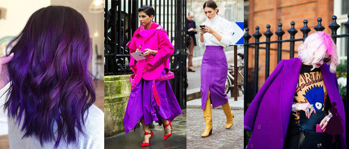 Ultra violet color pantone 2018 Street Style