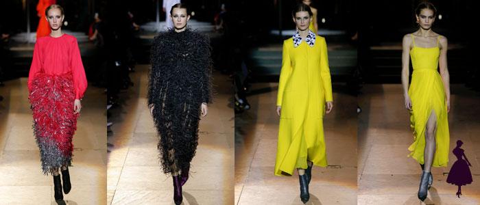 Colección de Carolina Herrera amarillo peludo