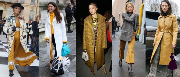 Colores de moda en 2018 Amarillo Mostaza