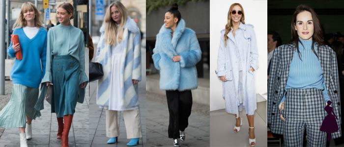 Colores de moda en 2018 Azul cielo