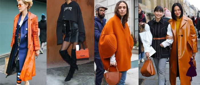 Colores de moda en 2018 Naranjo