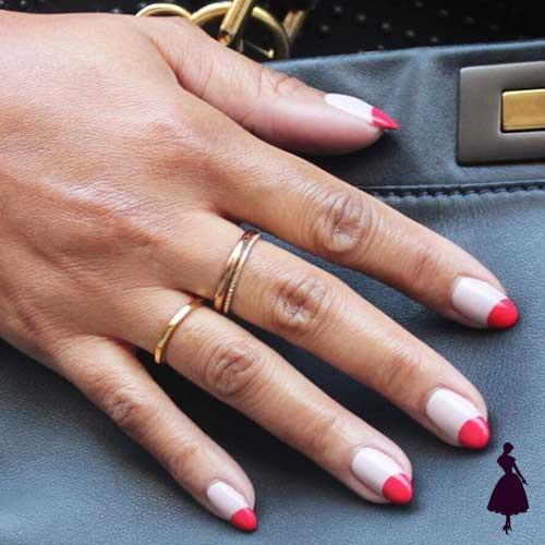 Diseños de uñas media luna invertido