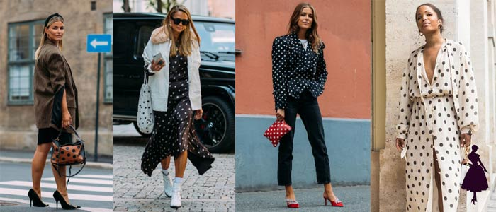 Los polka dots en la ropa fotos