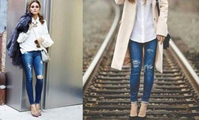 Looks de camisa blanca y jeans