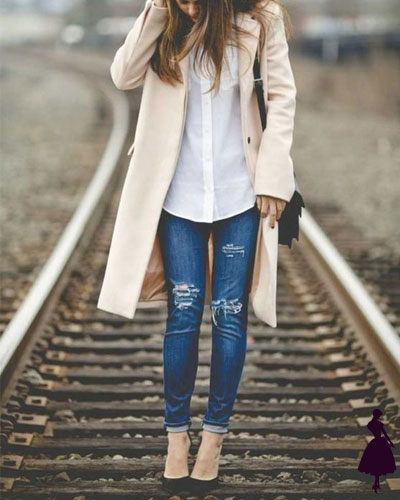 Looks de camisa blanca con jeans