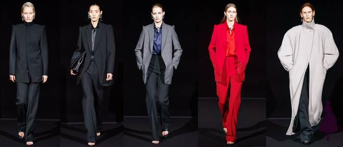 Corte masculino en la ropa femenina Balenciaga