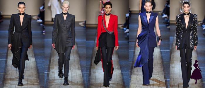 Corte masculino en la ropa femenina McQueen