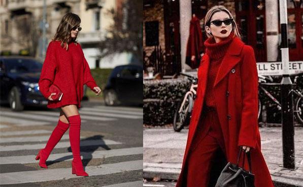 Look monocromático rojo