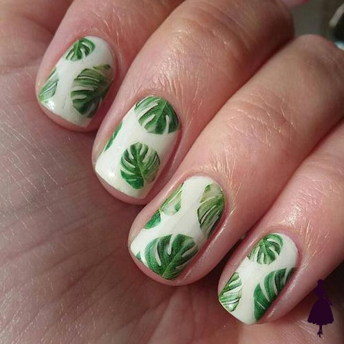 monstera en las uñas