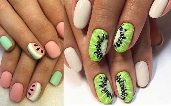Diseños de uñas de frutas