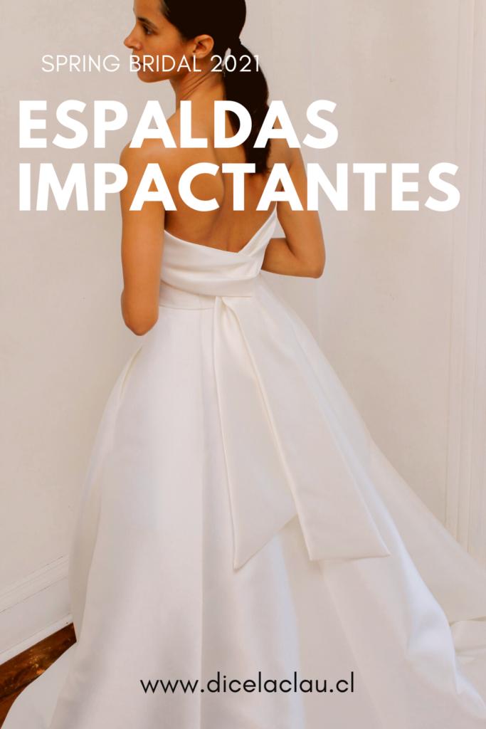 Espaldas impactantes en vestidos de novia