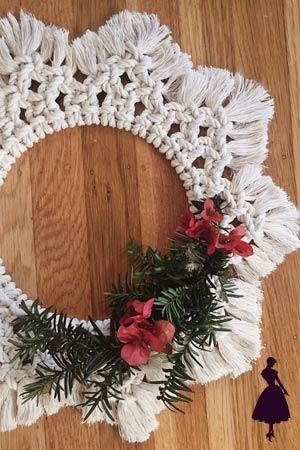 coronas navideñas de macramé