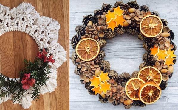 coronas navideñas naturales