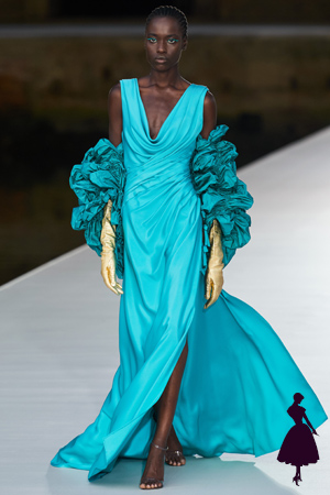 Vestidos de Valentino turquesa